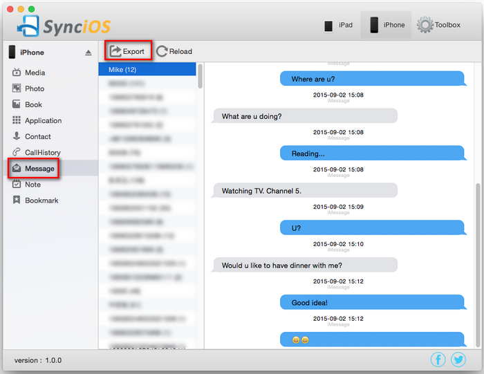 how to backup messages on iphone syncios 1 0 9 for macbook free official version 18584