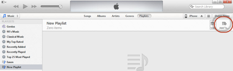 Add Playlists from PC to iTunes