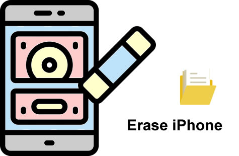 can't erase iphone data?