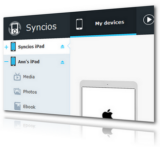 Transferir dados do iPad com o Syncios iPad Transfer