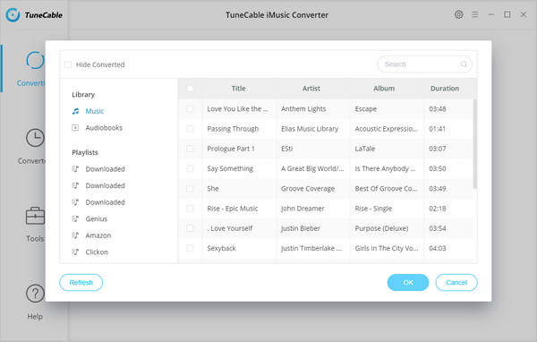convert iTunes music settings