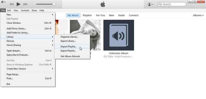 Import Playlists to iTunes