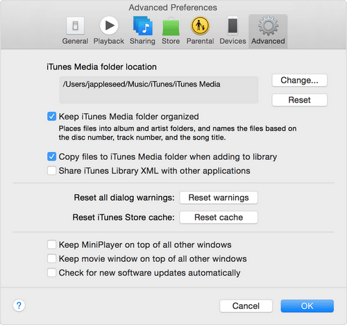 Copy files to itunes media folder